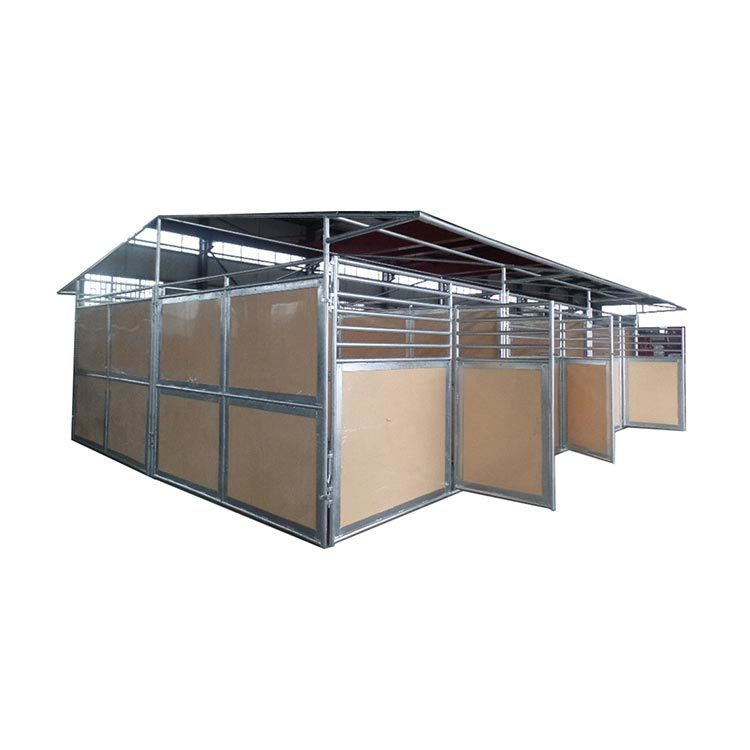 Galvanized horse stable with HDPE board and PVC roof