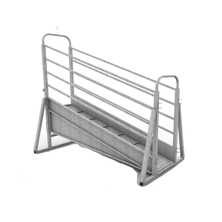 Portable galvanized cattle loading ramp wholesale
