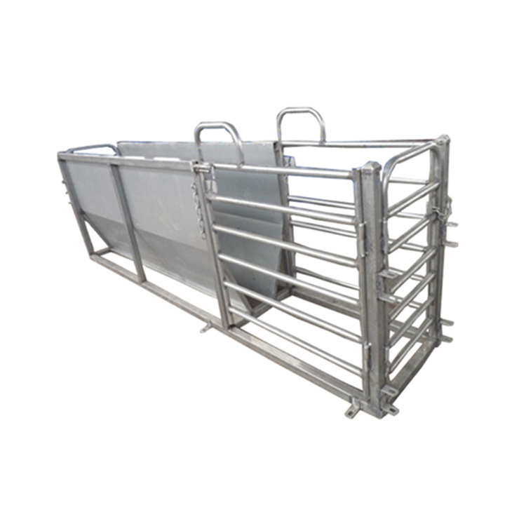 Galvanized sheep V race module with 3 exit