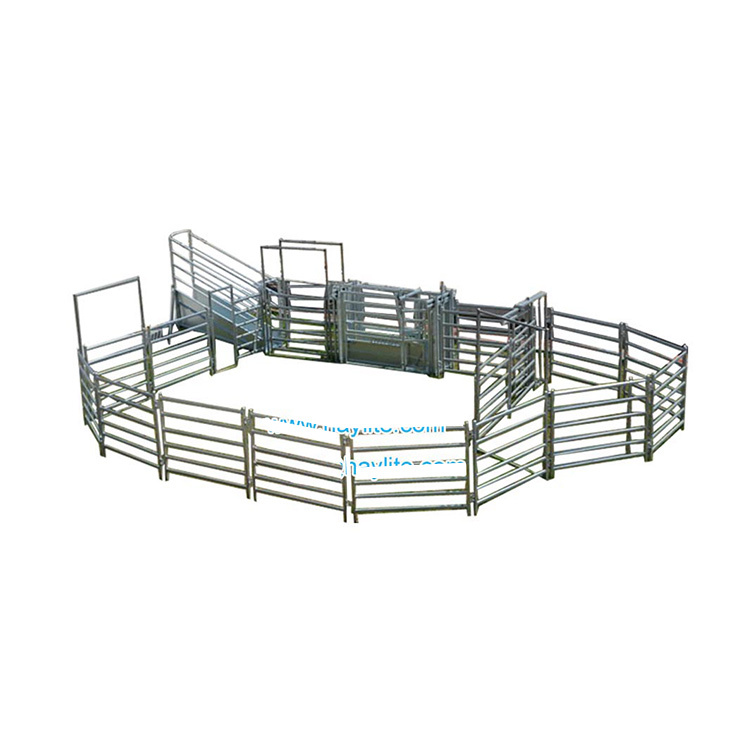 Cattle yard with fence panel gate wholesale