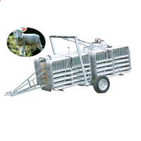 Galvanized goat sheep mobile yard trailer with panel, gate